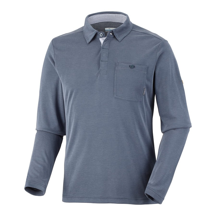 חולצה לגברים - Sun Ridge II L/S Polo - Columbia