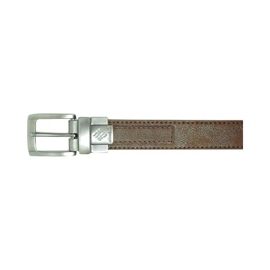 חגורת עור לגברים - Leather Belt E202 - Columbia
