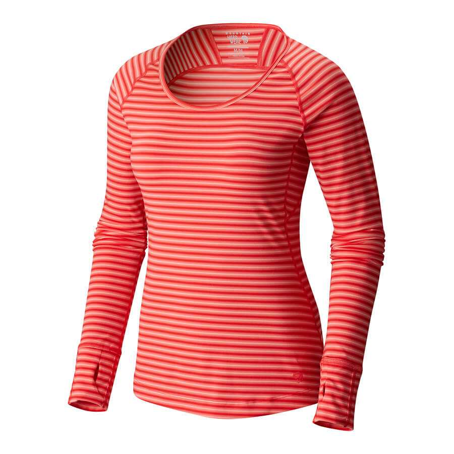 חולצה ארוכה לנשים - Butterlicious Stripe L/S Crew - Mountain Hardwear