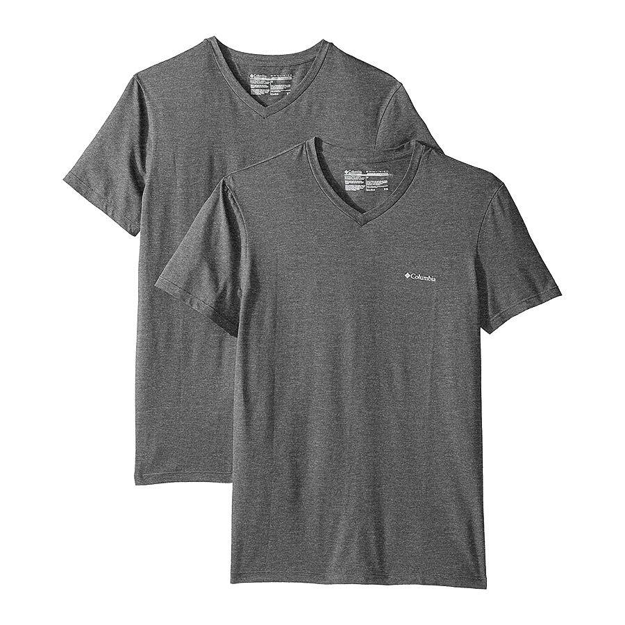 מארז שתי חולצות לגברים - V Neck T-Shirt 2-Pack - Columbia