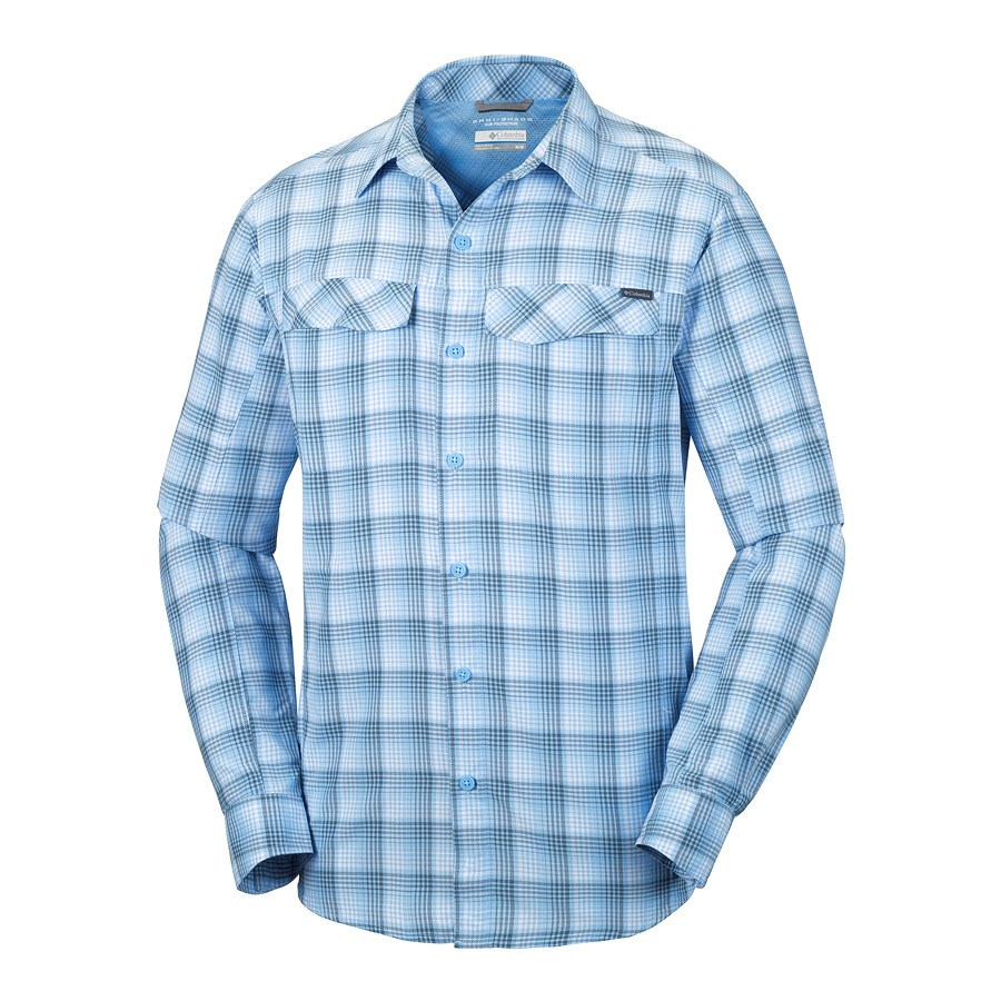 חולצה ארוכה לגברים - Silver Ridge Plaid Long Sleeve - Columbia