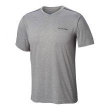 חולצה קצרה לגברים - Tech Trail II V Neck - Columbia
