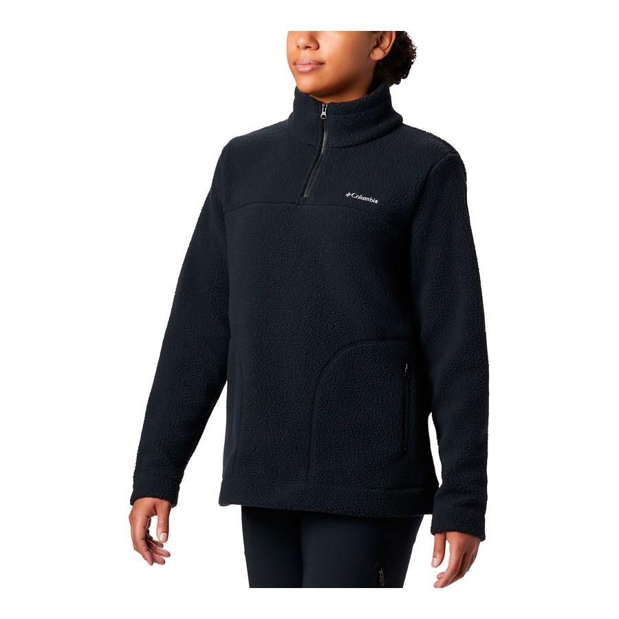 מעיל פליס לנשים - Canyon Point Sherpa Pullover - Columbia